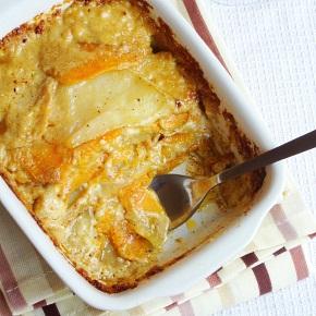 Two Potato, Chilli and Cumin Gratin