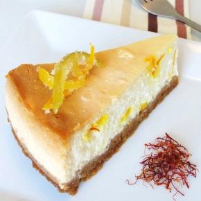 Saffron & Lemon Srikhand Cheesecake
