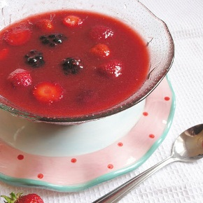Chilled Sunshine Berry Soup
