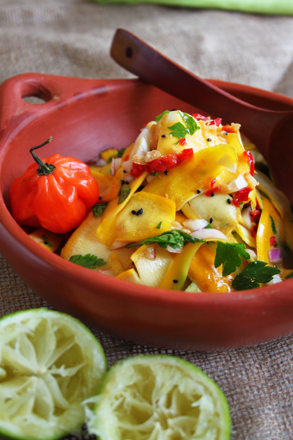Mango and Courgette Salad with Jaggery-Lime Dressing (2)