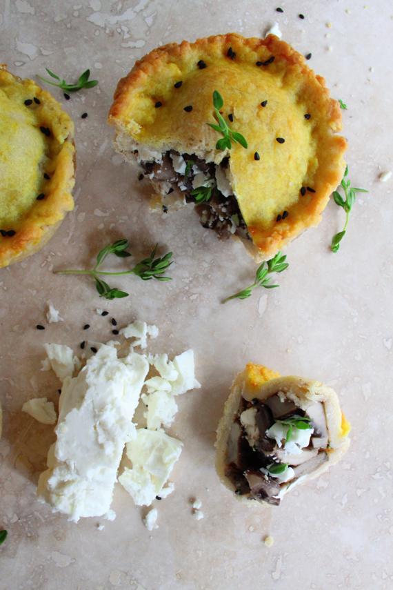 Mini Mushroom Kalonji and Feta Pies (2)