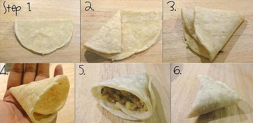 Folding Samosa Pastry