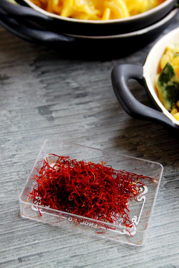 Saffron Courgette Pasta