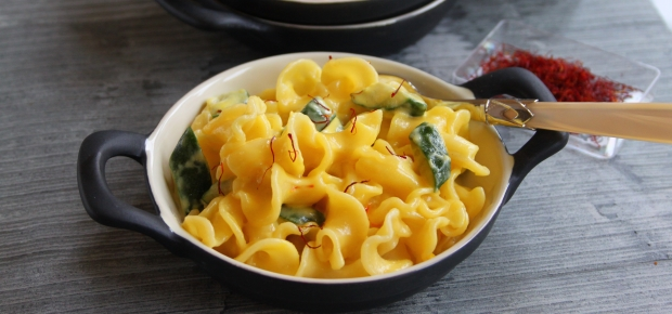 15 Minute Saffron and Courgette Pasta