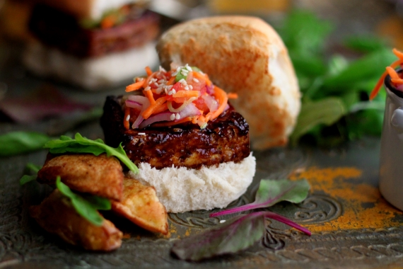 Tamarind Glazed Tofu Sliders (3)