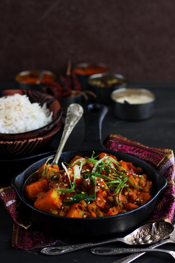 Potato and Pea Coconut Milk Curry