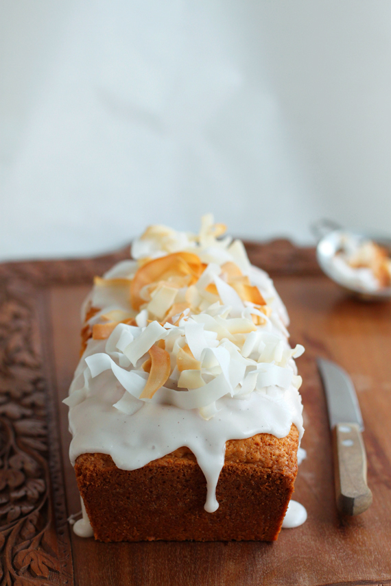 Eggless Coconut Drizzle Cake