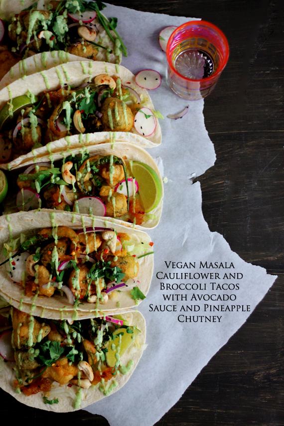 Vegan Masala Cauliflower and Broccoli Tacos 2