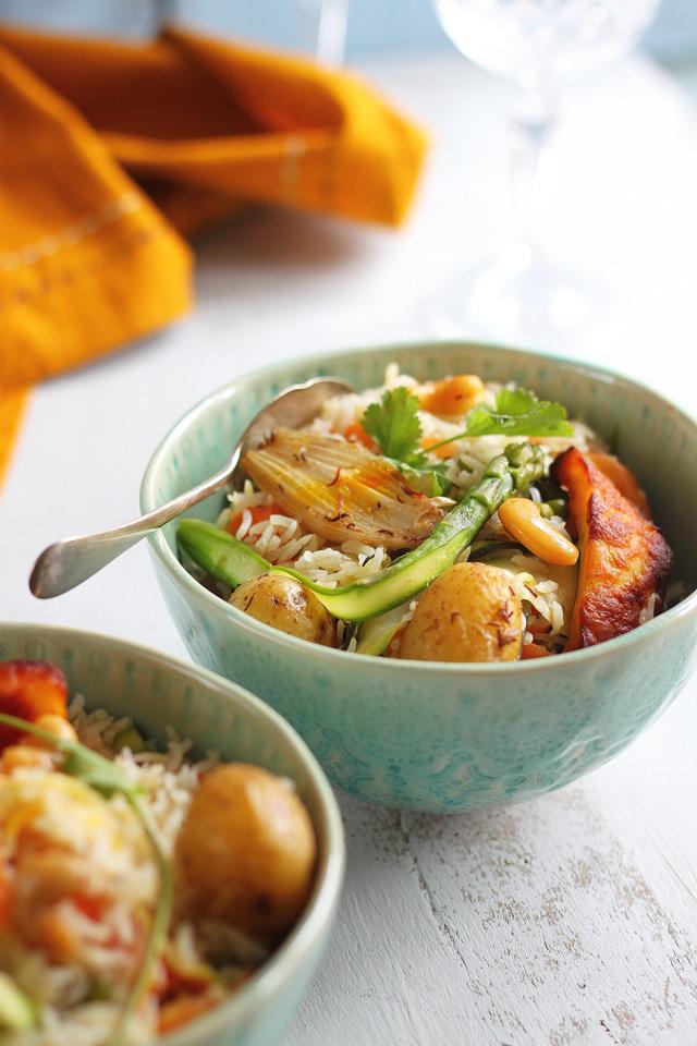 Baked Buttered Vegetable Pilaf Recipe