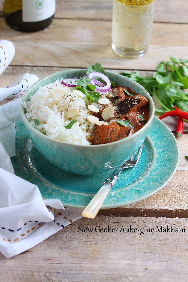 Slow Cooker Aubergine Makhani