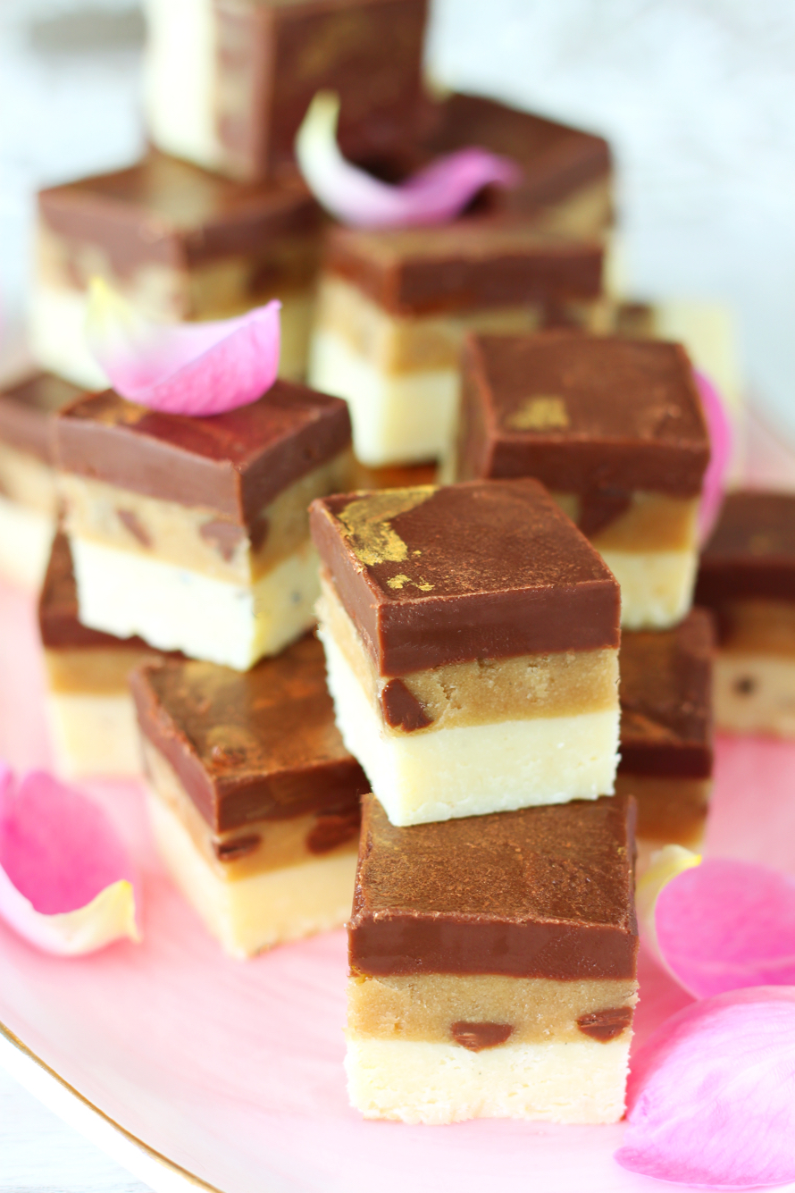 How to Make Cookie Dough Chocolate Burfi in the Microwave