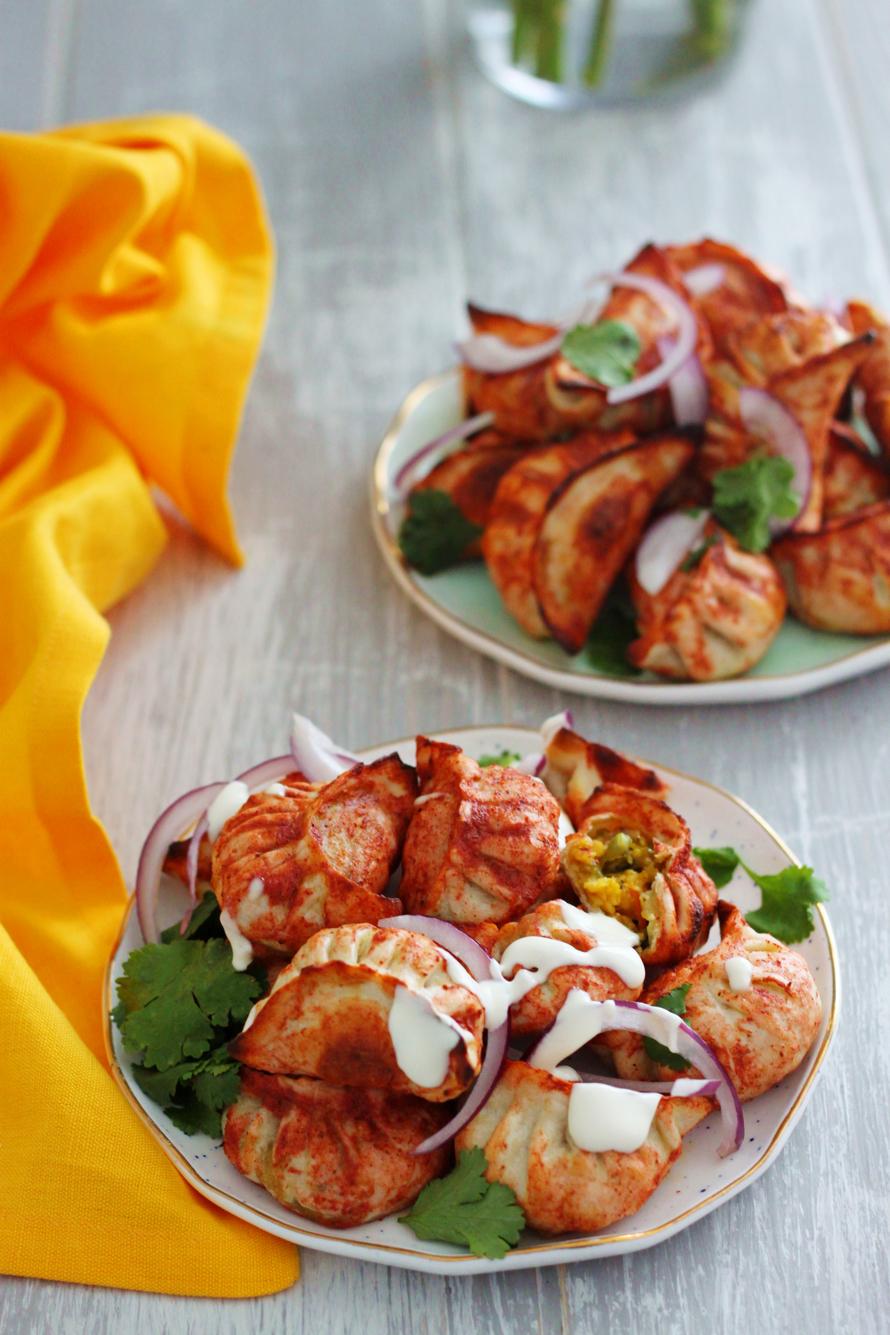 Vegetarian Tandoori Momos