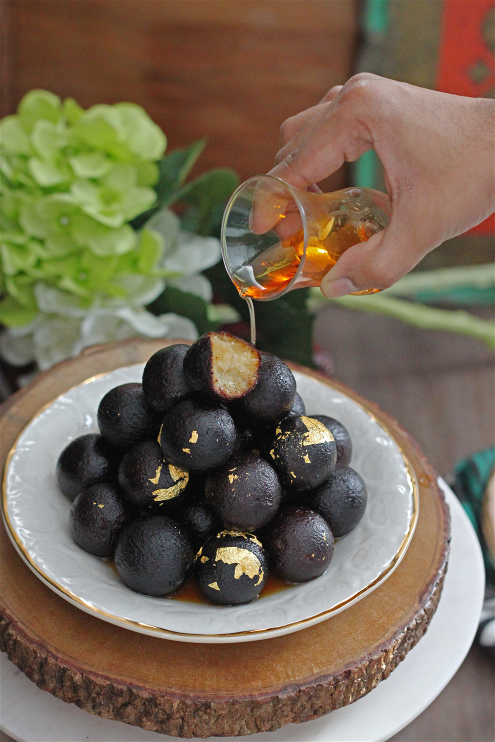 Rum-Soaked Kala Jamun (Cardamom and Rum Syrup-Soaked Doughnuts)