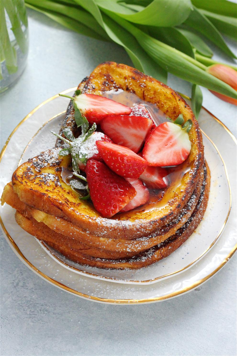 Vegan Cardamom and Saffron French Toast