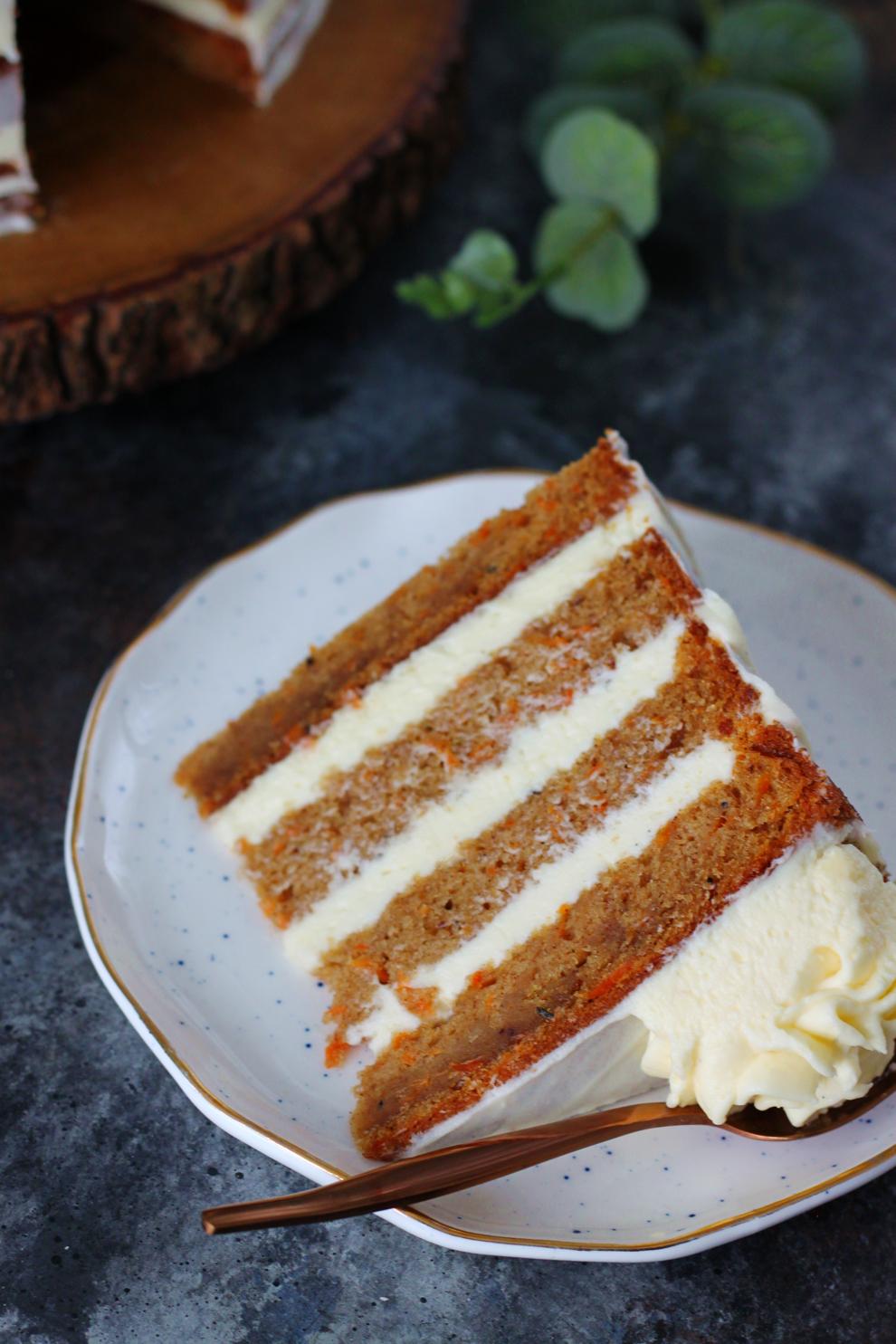 Cardamom Carrot Cake with Orange Blossom Frosting