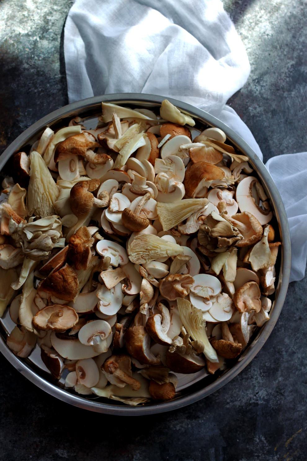 Mixed Mushrooms for Biryani
