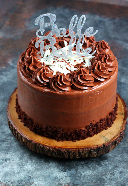 Malted Chocolate Whipped Ganache Cake