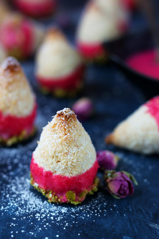 Eggless Pistachio-Rose Macaroons