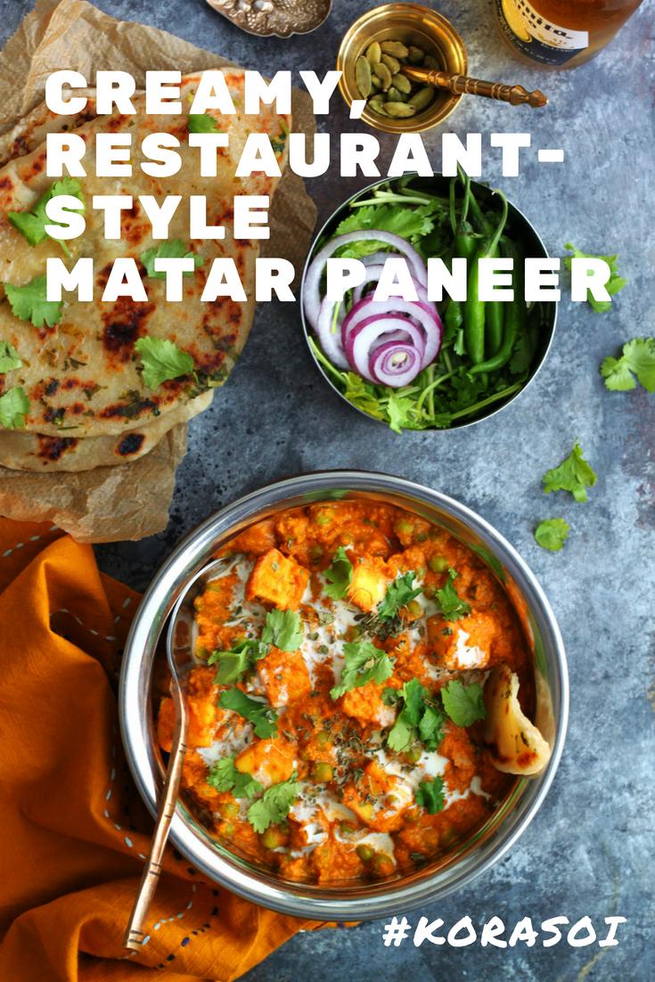 Creamy, Restaurant-Style Matar Paneer