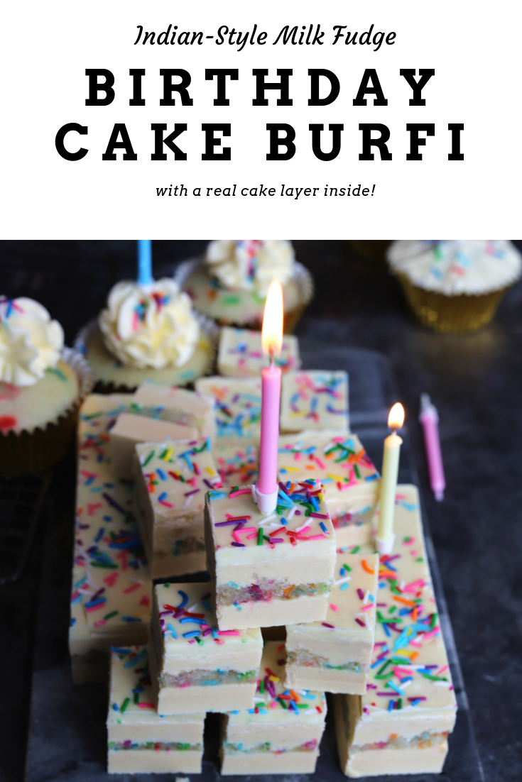 Birthday Cake Burfi