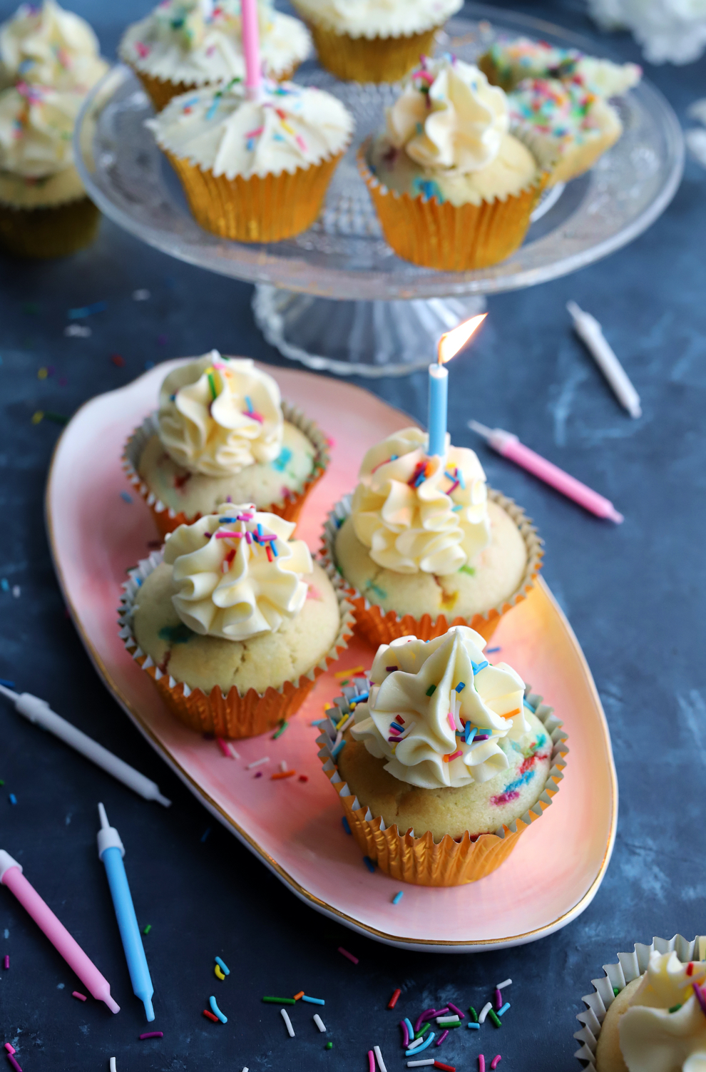 Sanjana's Fluffy Eggless Vanilla Cupcakes