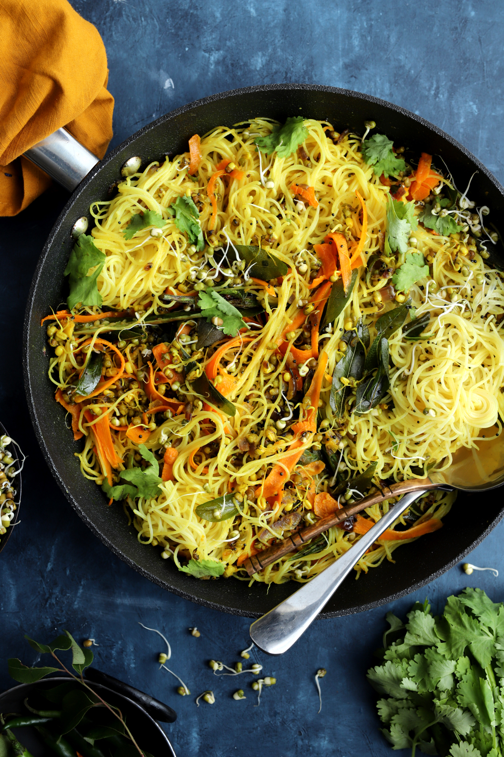 Sprouted Mung Bean Breakfast Noodles