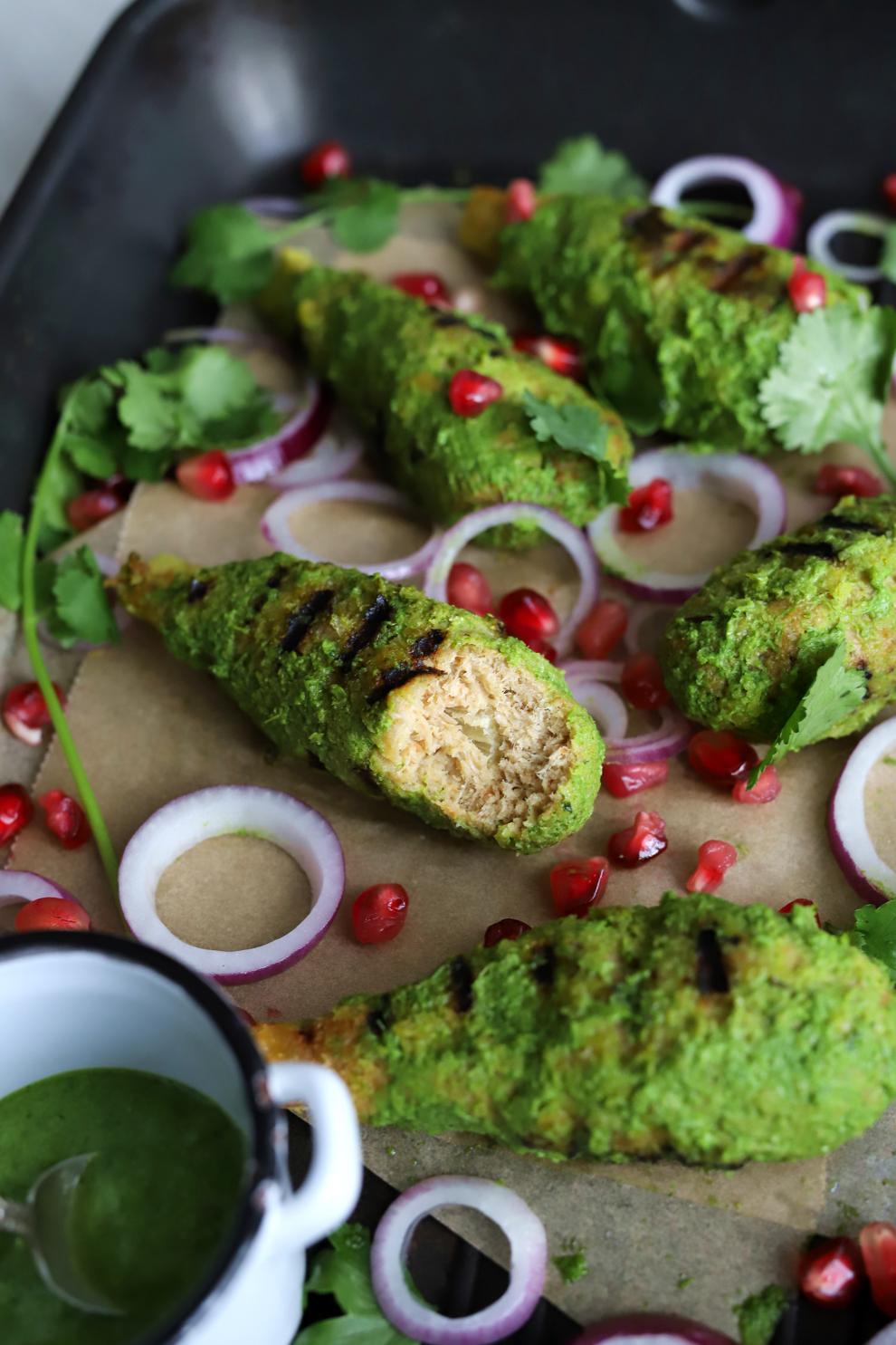 Vegan Hariyali Chicken Drumsticks