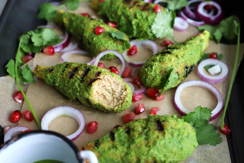 "Vegan Hariyali ""Chicken"" Drumsticks"