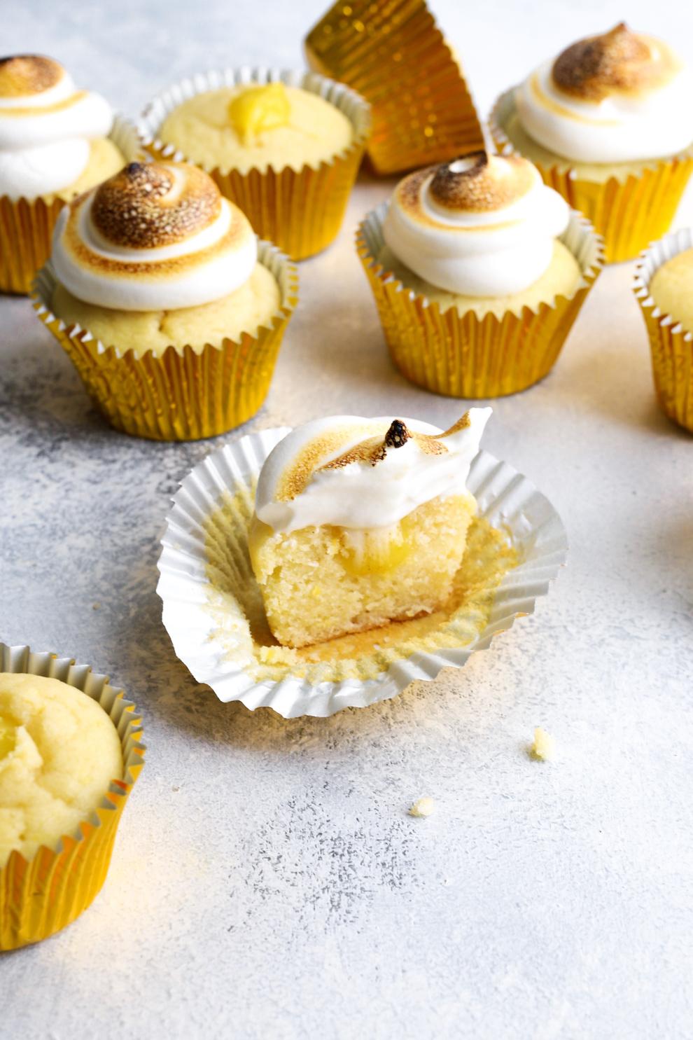 Saffron & Lemon Meringue Cupcakes