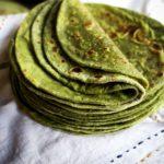 Soft Spinach Roti