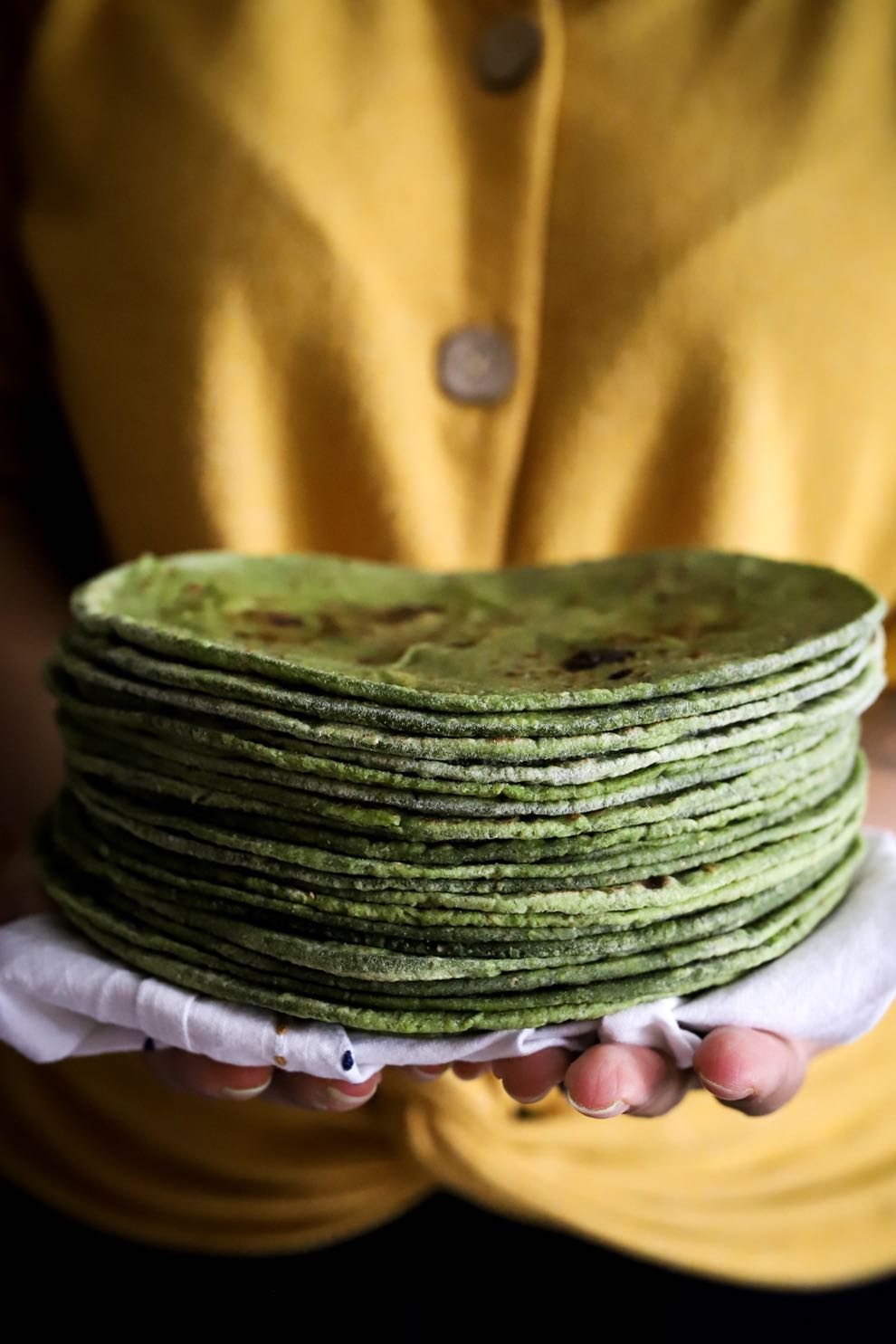 Soft Spinach Roti