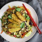 Thai Basil Tempeh & Firecracker Rice