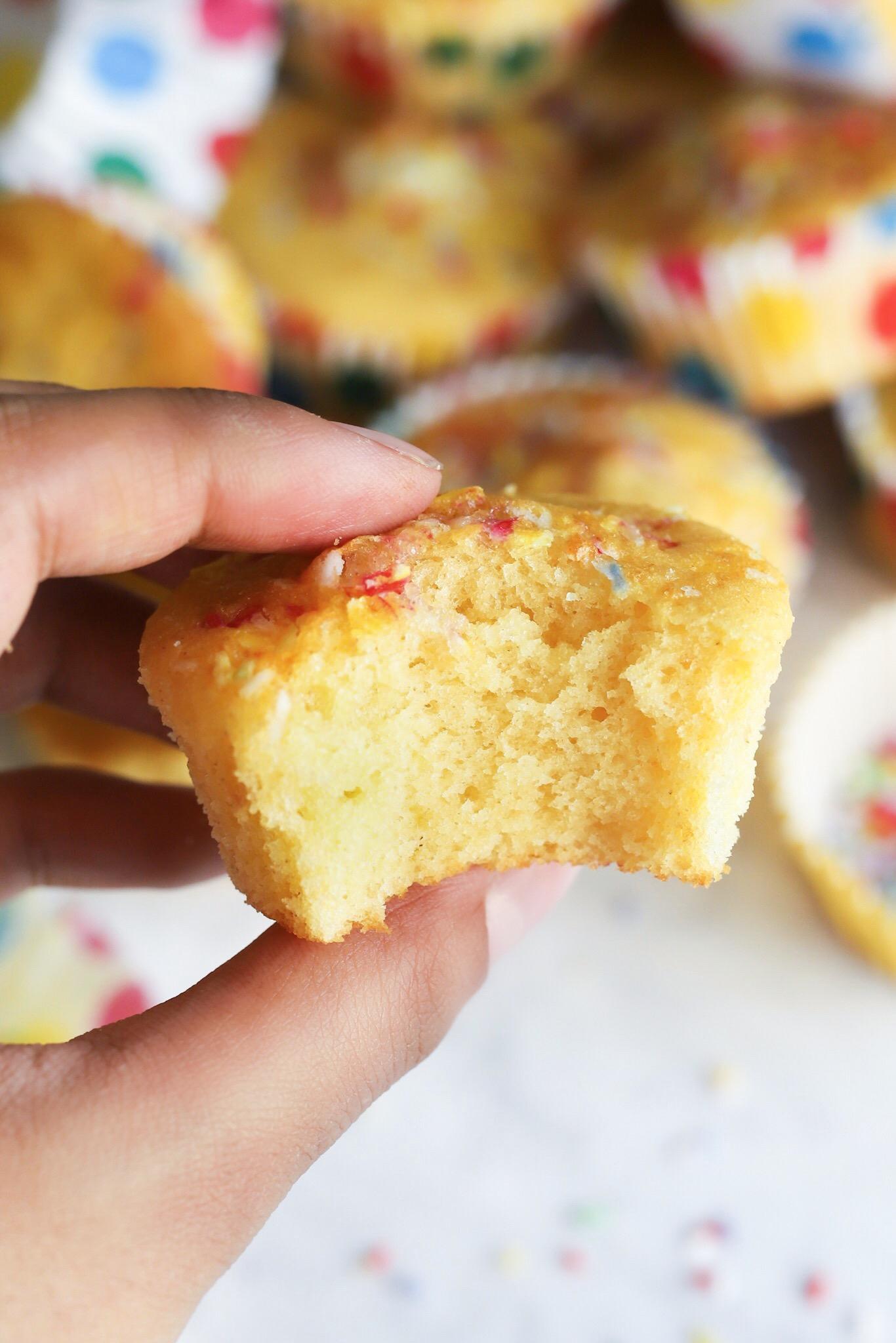 Fluffy vegan fairy cake