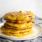 Chilli Corn Pancakes with Soy Sauce Caramel