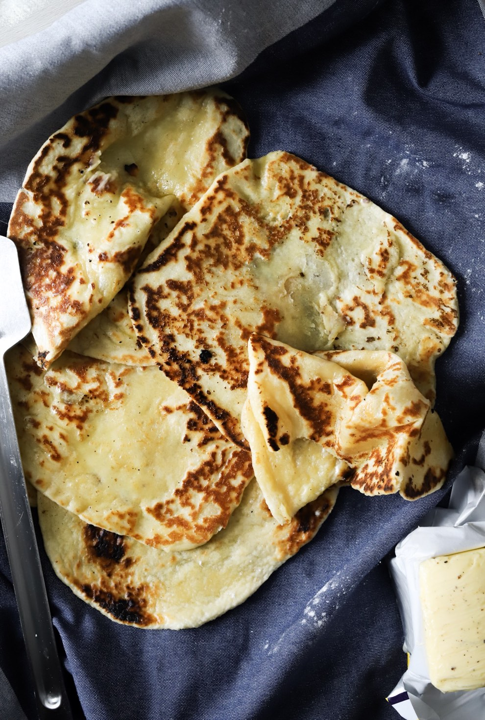 Easy Buttermilk Naan