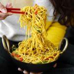 Delicious Vegetarian Hakka Noodles Quick Easy Recipe