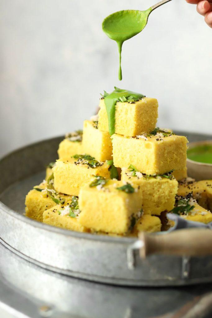 Khaman (Instant Chickpea Flour Dhokla)