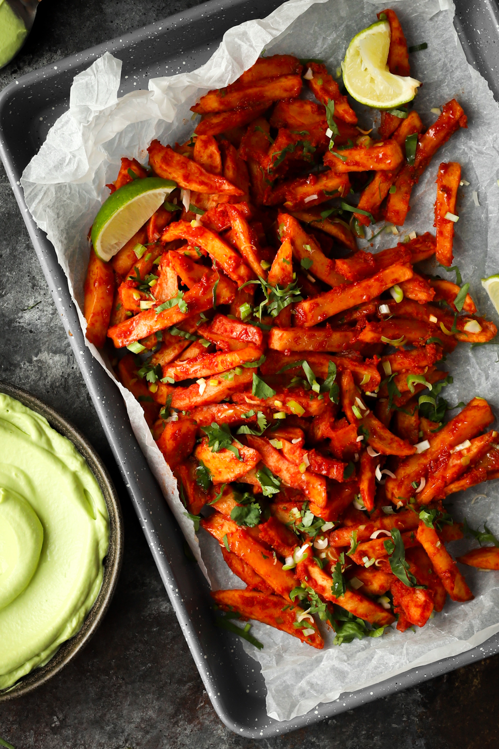 Masala Chips & Vegan Avocado Mayo