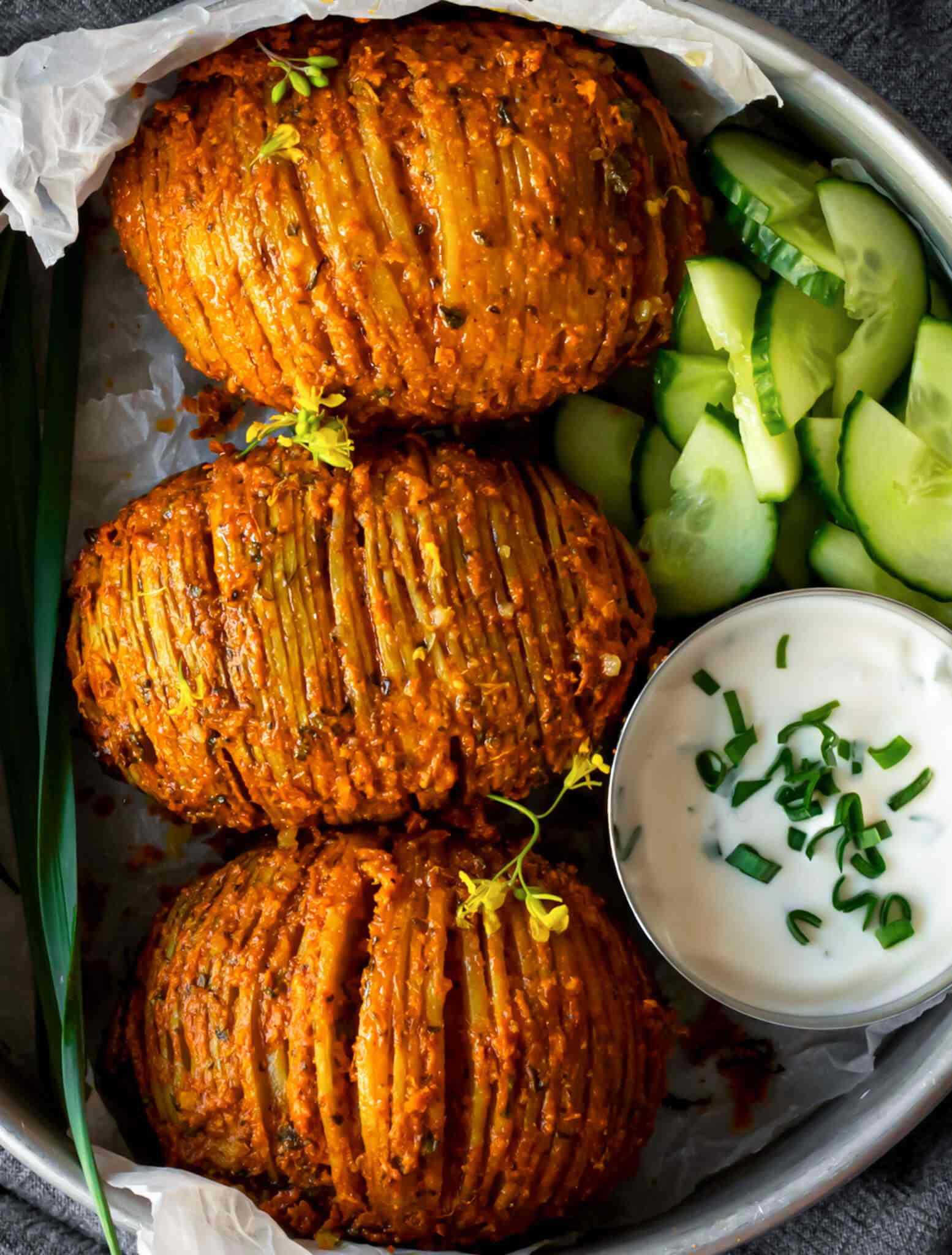Tandoori Hasselback Potatoes