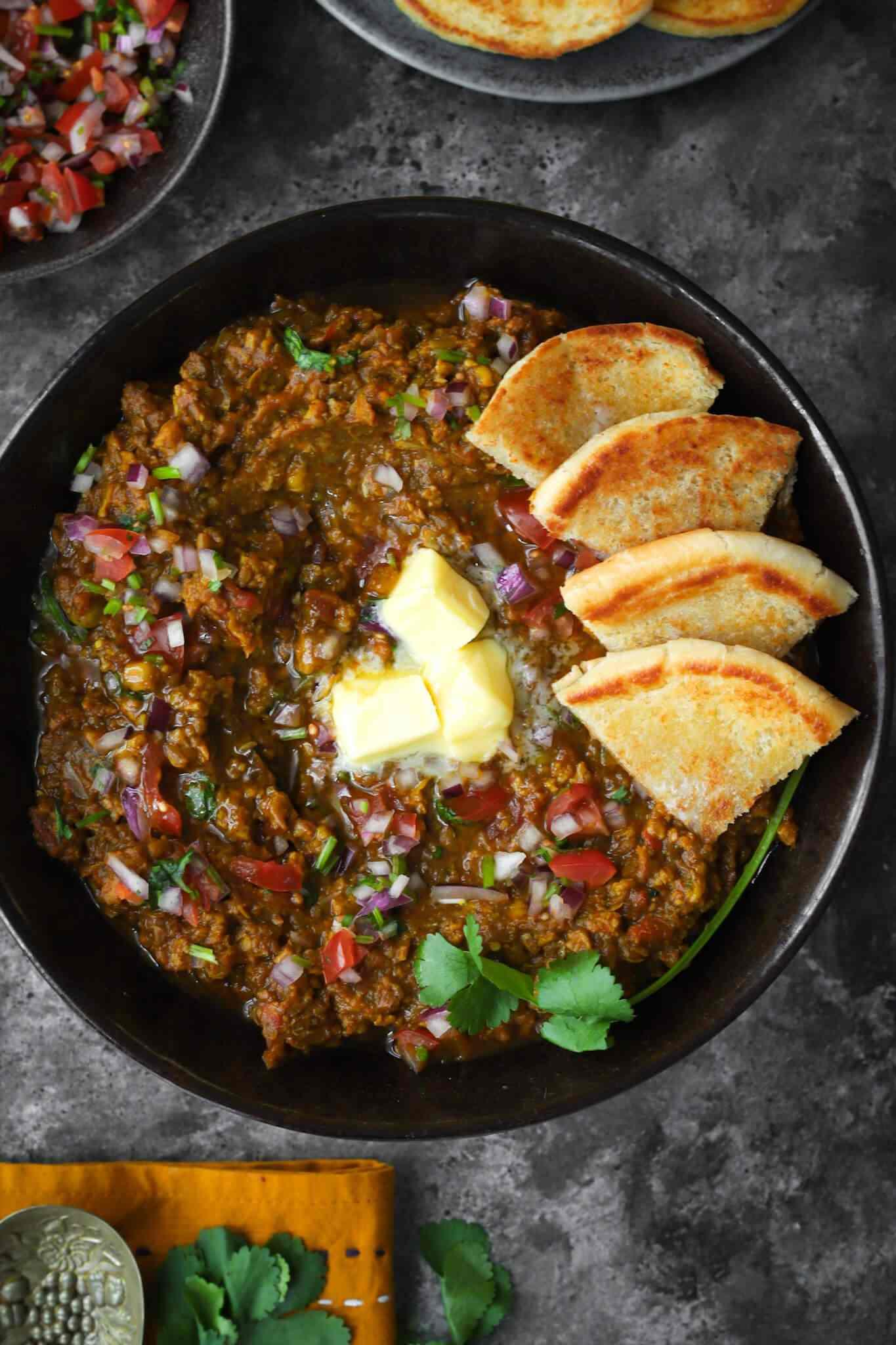 Bodhi's Keema Pau Bhaji (Vegan) recipe