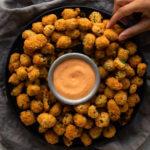 Coconut-Crusted Popcorn Bhindi Recipe Delicious