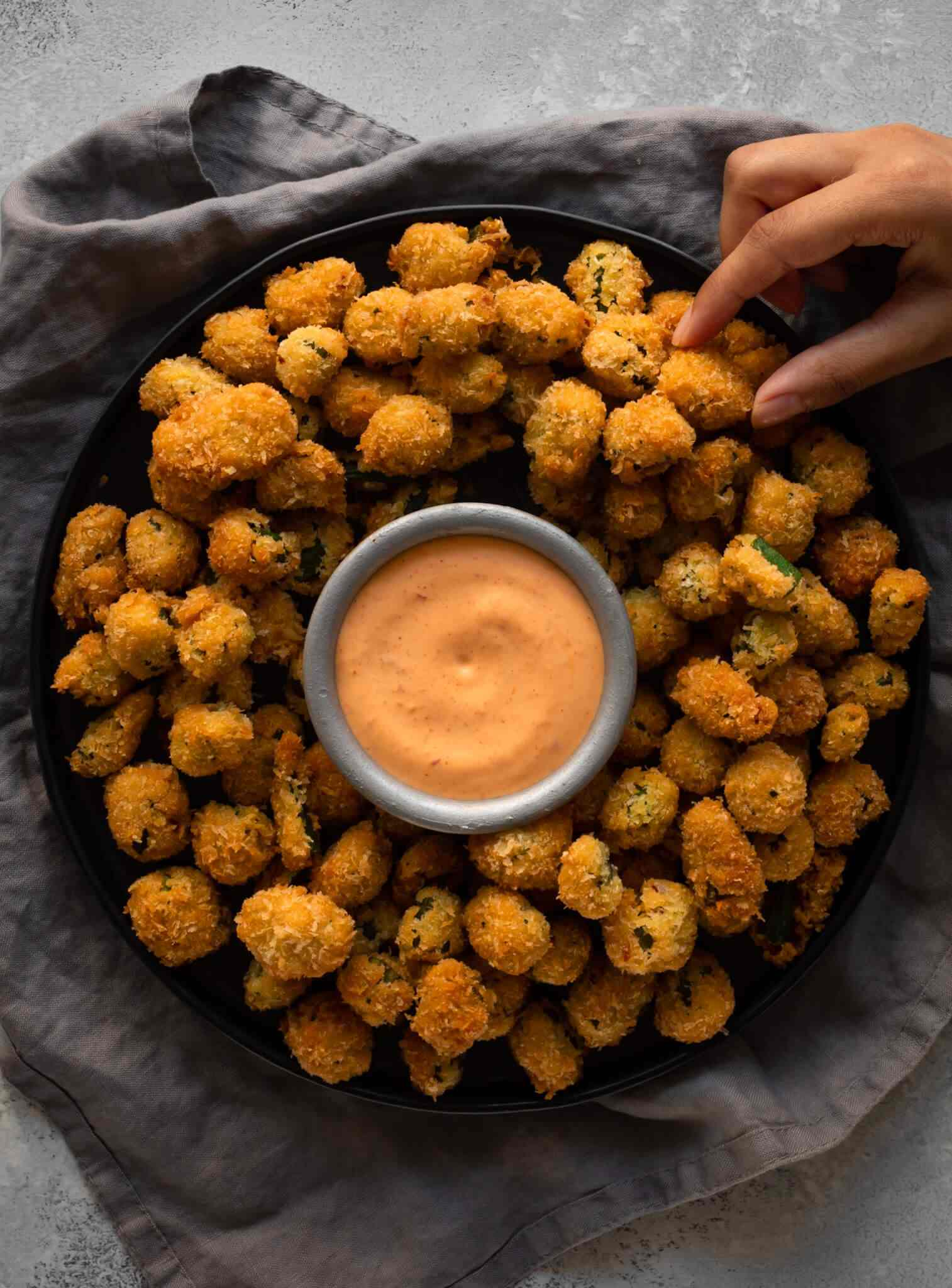 Crispy Popcorn Bhindi Bites