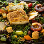 Amazing Crispy Paneer & Nectarine Salad Sanjana
