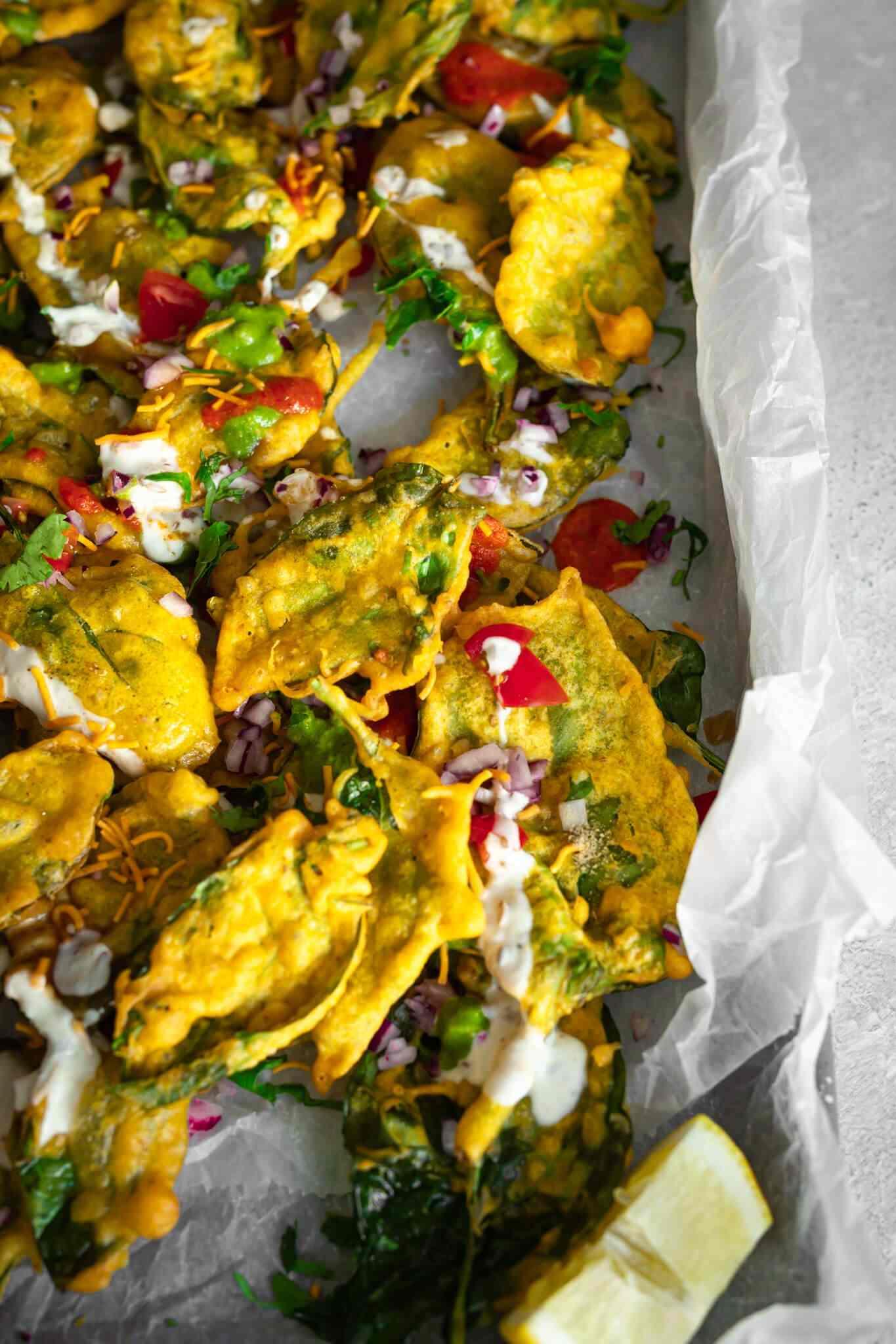 Easy Palak Patta Chaat Vegan Recipe