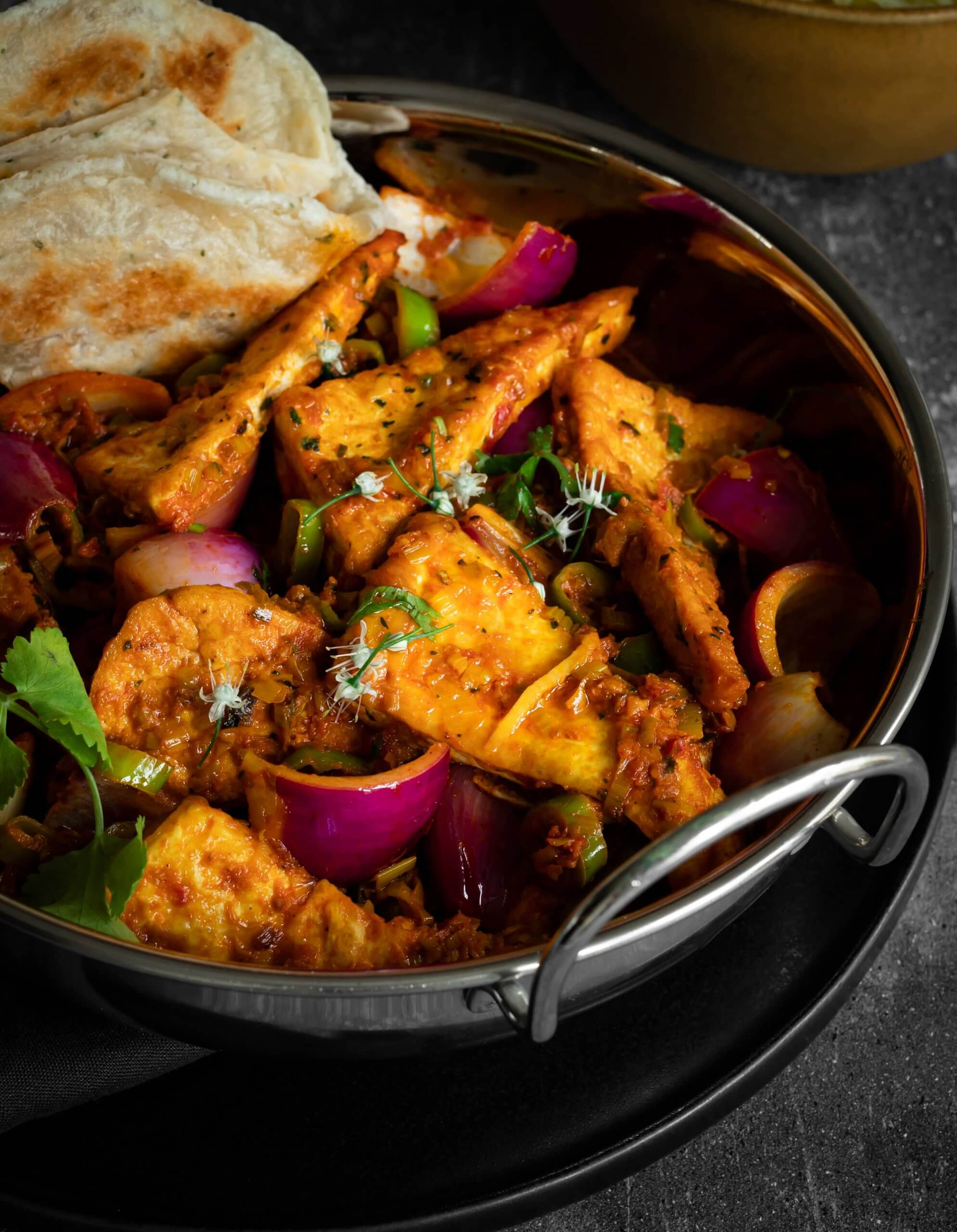 Tofu Dopiaza Recipe - Vegan Curry with Onions and Peppers