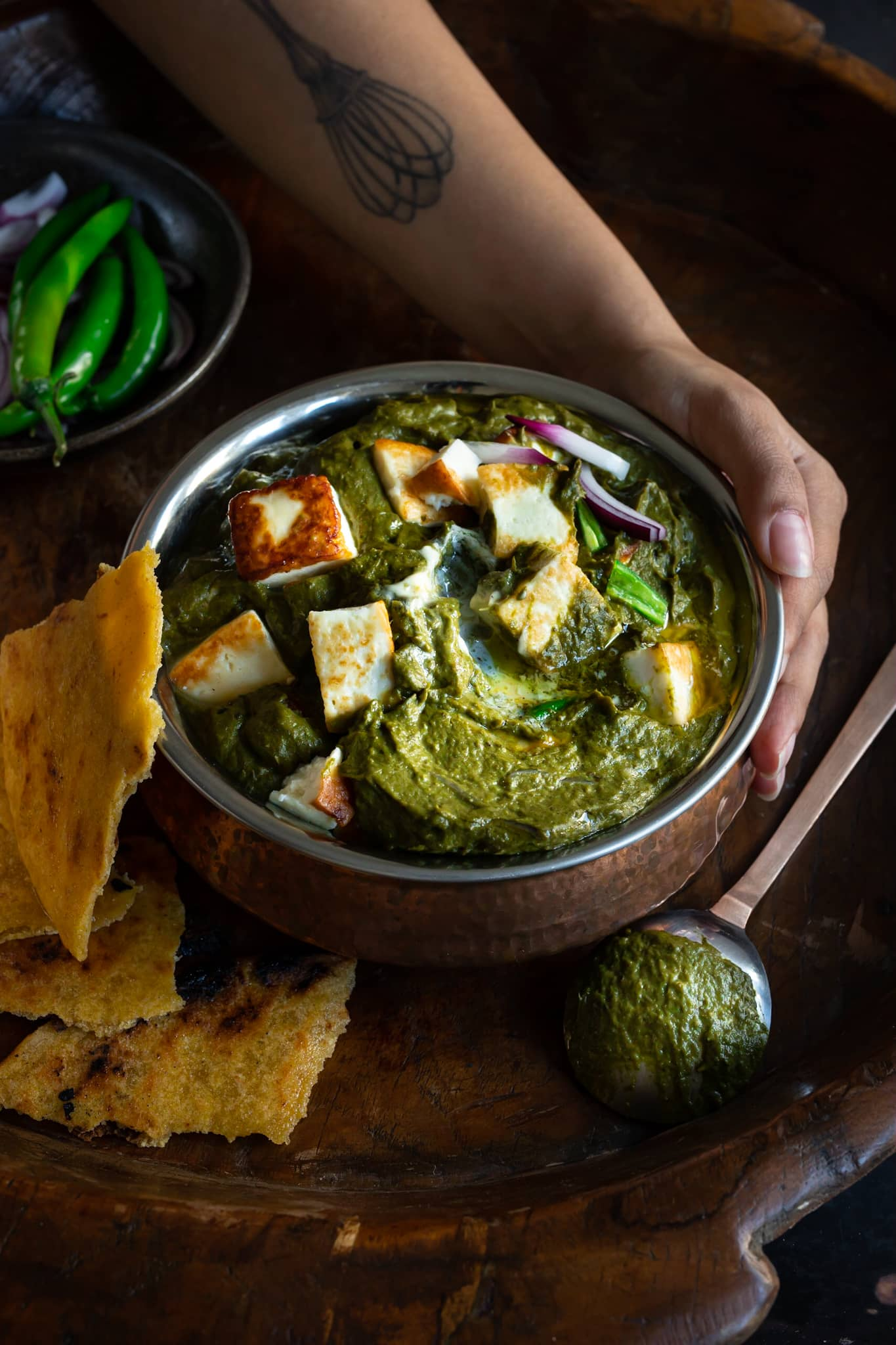 Saag - Indian curry with mustard greens