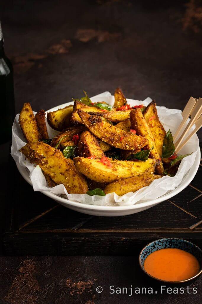How to make Sri Lankan-Style Potato Wedges