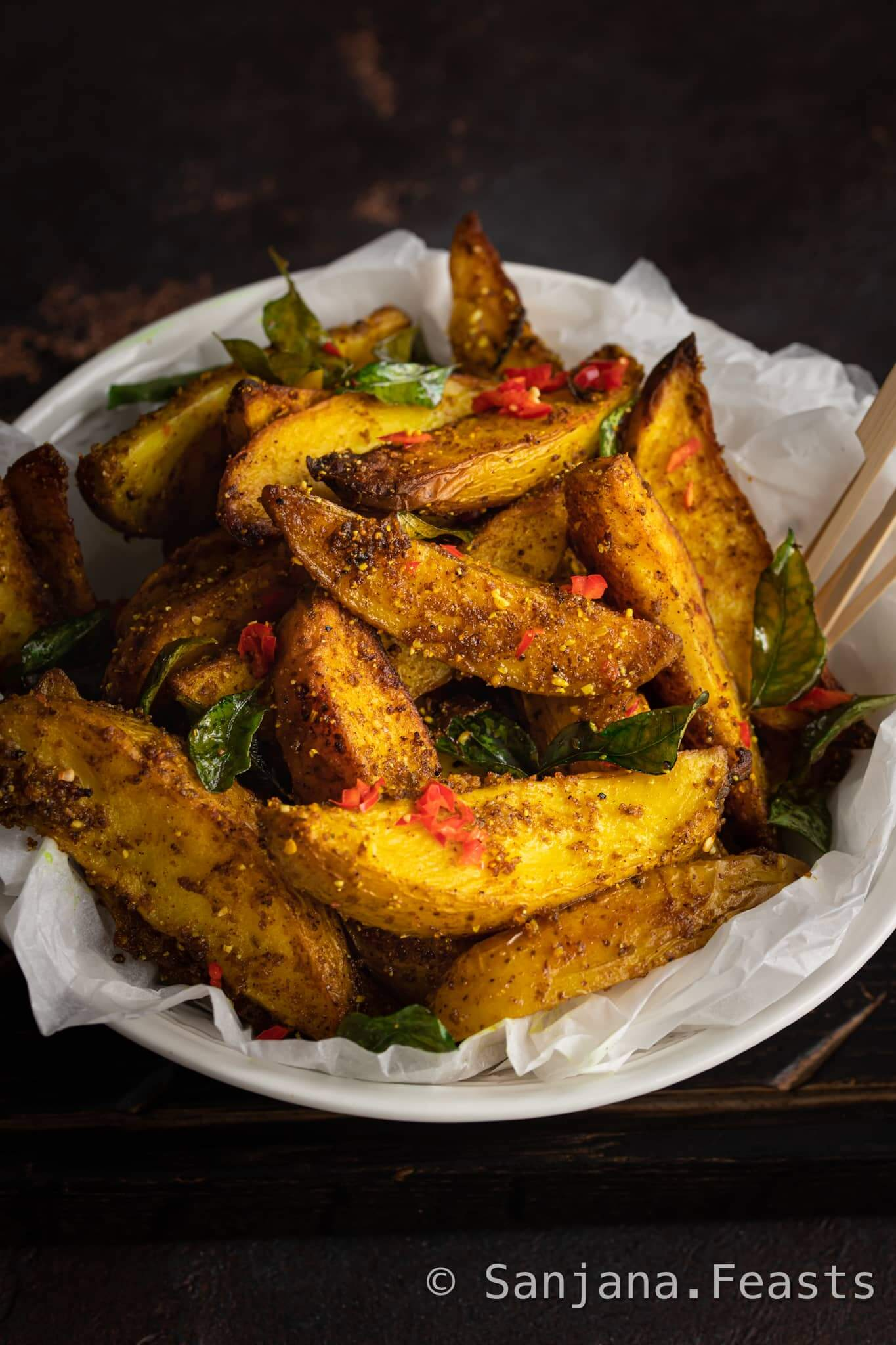 How to make Spicy Potato Wedges Recipe
