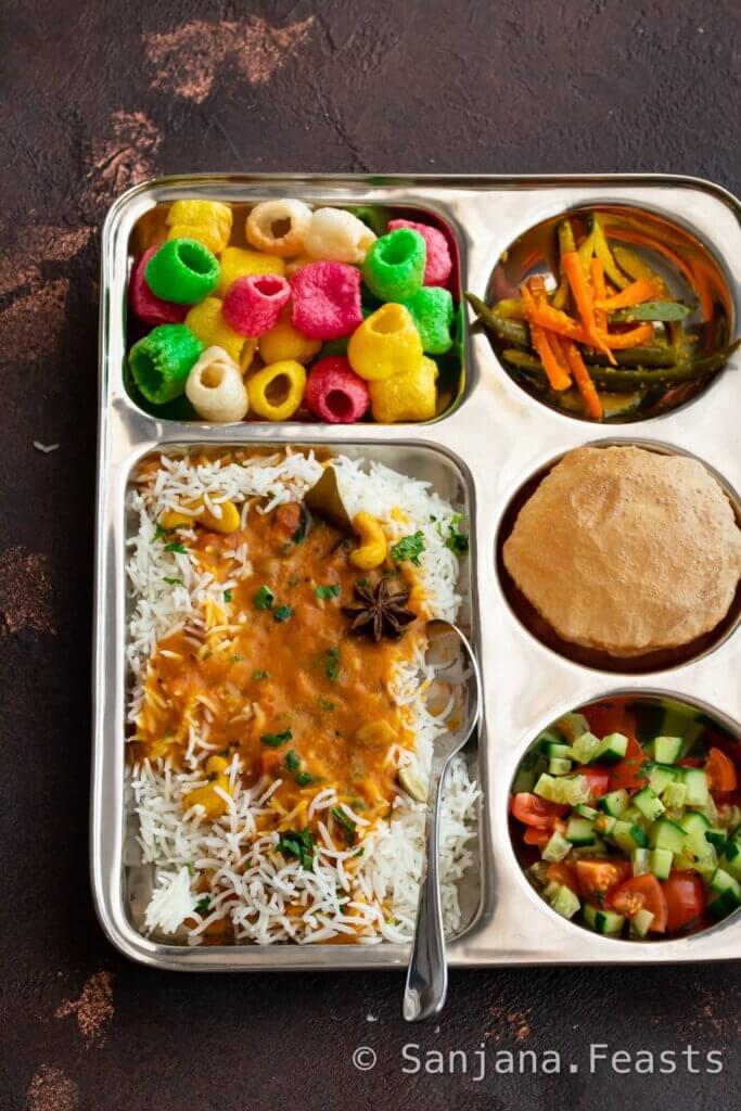 Gujarati wedding dal thali