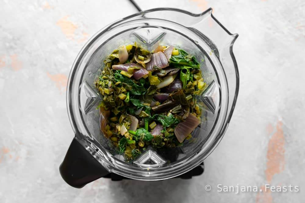 How to blend saag